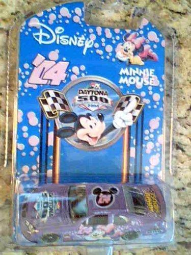 Disney Nascar 2004 Daytona 500 Pontiac Grand Prix Minnie Mouse in Protective Case, New