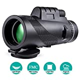 Monocular Telescopes - 40X60 Monocular Telescope HD Waterproof Shockproof Telescope with Smartphone Mount & Tripod for Camping Bird Watching Travel Hunting Football Match Concert Live