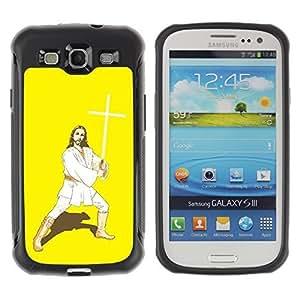 Hybrid Anti-Shock Defend Case for Samsung Galaxy S3 / Kung Fu Jesus