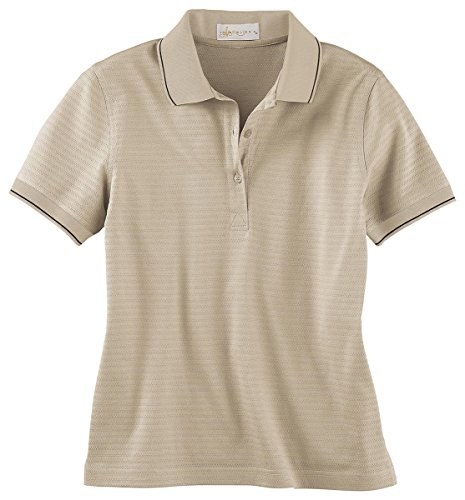 Ash City IL Migliore 75033 Ladies' Mercerized Textured Jacquard Polo Sandstone 732 XS