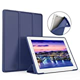 iPad Case - ZOYU for old ipad 4th Slim Lightweight Tri-Fold Silicone Stand Cover with Auto Sleep/Wake Function ,for old 9.7inch Apple iPad 2th/3th/4th Generation case(Navy)