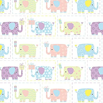 Amazon Com Baby Elephant Wrapping Paper 6ft Roll Health