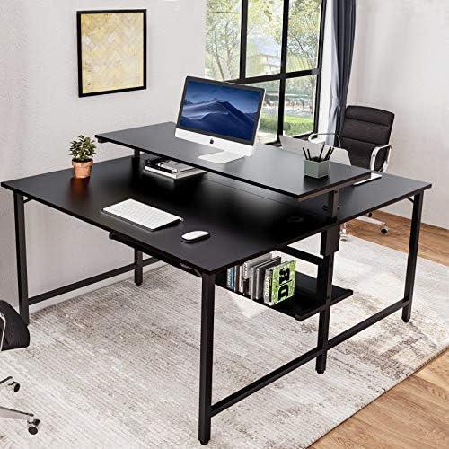 Best modern office desk: Sedeta Two Person Desks Double Workstation Desk