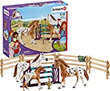 Schleich Horse Club Lisa's Tournament Training with Appaloosas 11-piece Educational Playset for Kids Ages 5-12