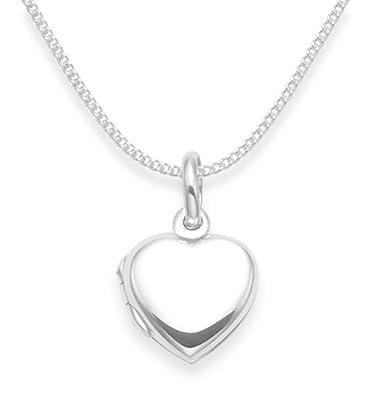 90484f3715005 925 Sterling Silver Children s Heart Locket Necklace on 15