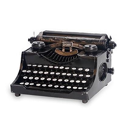 iol Creative adornos Vintage Estaño máquina de escribir/bar/cafetería decoración manualidades