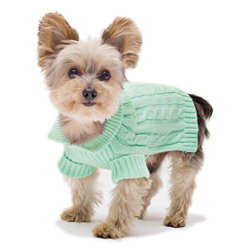 Stinky G Mint Aran Dog Sweater Size #10 Small