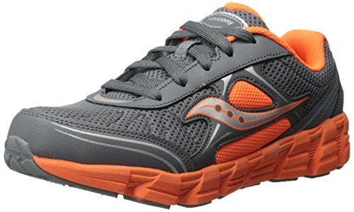 Saucony Kotaro 2 Sneaker (Little Kid/Big Kid),Grey/Orange,11 W US Little Kid