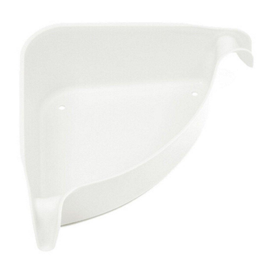 Sucker Corner Shelf Bathroom Kitchen ABS+Plastic Storage Orgnazation Rack Bathroom Shelf 4 Colors 1PCS White