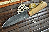 Cheap Hunting Knife – Handmade Damascus Hunting Knife Full Tang – Work of Art