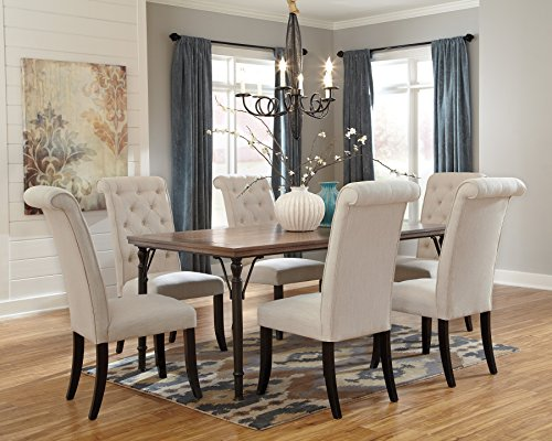Triptown Medium Brown Dining Room Furniture Set, Table w/ 6 Chairs