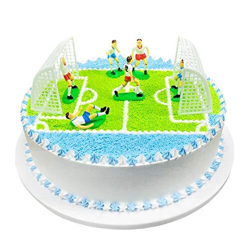 Soccer Set Boys Birthday Cake Topper (Goal Soccer Cake Decorations)