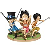 """Bandai Tamashii Nations Luffy & Ace & Sabo A Promise of Brothers """"One Piece """" Action Figure"""