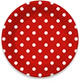 "LolliZ 9"" Paper Plates. Red/ Polka Dots, 12-Pcs"