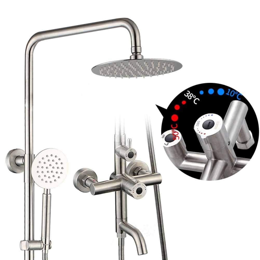 数量は多い  新しいシャワーシステムSaeuwtowyクロムサーモスタットシャワーの蛇口セットスクエアシャワーヘッド壁に取り付けられた浴室シャワーシステムミキサーアンチスケールのバスルームシャワーミキサーセット B07KD66CS2, ミントマジック/養生庵:5f5f1fd6 --- arianechie.dominiotemporario.com