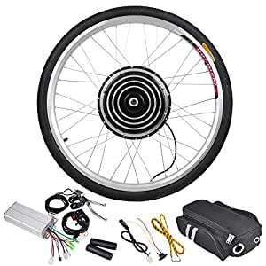 "AW 26""x1.75"" Front Wheel 36V 800W Brushless Hub Motor Electric Bicycle Conversion Kit Dual Mode Controller Outdoor"