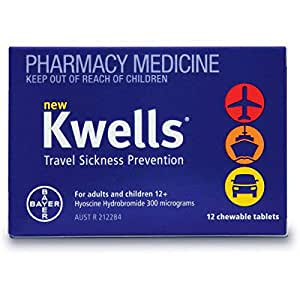 Kwells Travel Sickness Prevention 12 Chewable Tablets