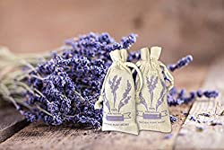 French Lavender Scented Sachet Gift Box for Pillow, Nightstand, Drawer, Closet, Car, Suitcase, Workout Bags Natural Lavender Fragrance Aromatherapy Lavender Scent (2packs)