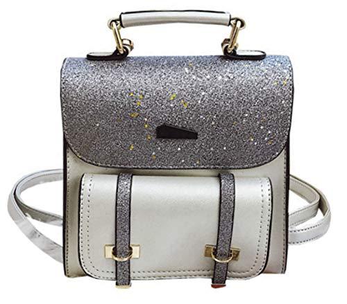 Kearia Reversible Sequin School Backpack Sparkly Bling Glitter Daypack Lightweight Back Pack for Girls Women Sliver
