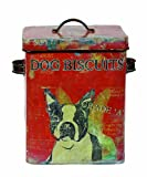 Creative Co-op Turn of The Century Tin Dog Biscuit Container, 9-Inch, My Pet Supplies