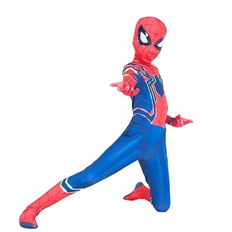 YIWANGO Adulto del Niños Disfraz De Spiderman Halloween Bola ...