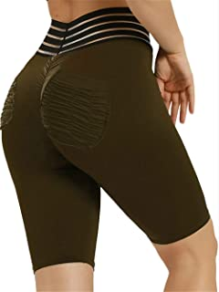79646ad559 Meilidress Womens Ruched Butt Lifting Leggings High Waisted Workout Sport  Tummy Control Gym Yoga Pants