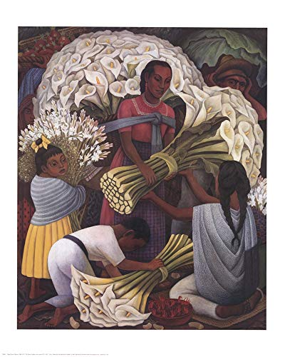 Flower Vendor by Diego Rivera Art Print, 24 x 30 inches