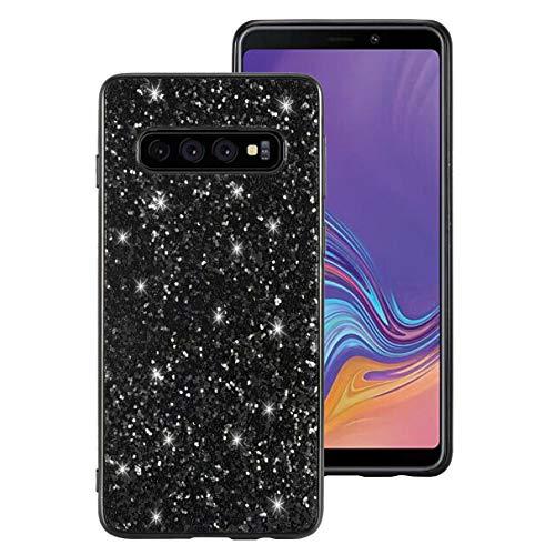 Ranyi Galaxy S10 5G Case, Full Body Glitter Sparkle Bling Rhinestone Design Slim Fit Flexible Electroplated TPU Bumper Shock Absorbing Rubber Case for Samsung Galaxy S10 5G 6.7