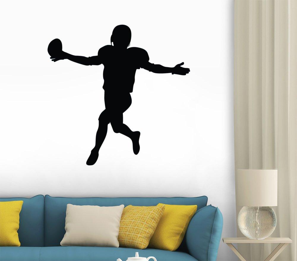 amazon com wallmonkeys football silhouette peel and stick wall amazon com wallmonkeys football silhouette peel and stick wall decals wm79230 18 in w x 18 in h home kitchen