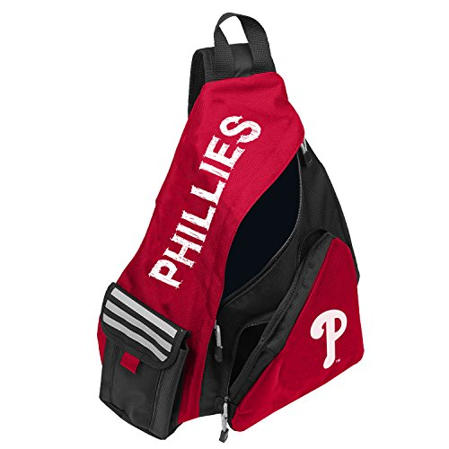 Officially Licensed MLB Philadelphia Phillies Leadoff Sling Backpack, 20-Inch, Red/White ()