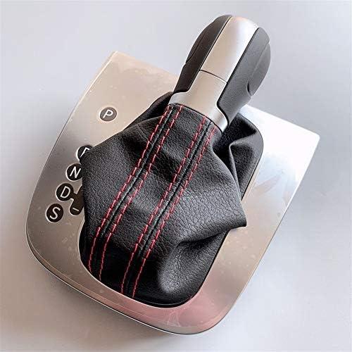 シフトノブ車用 ゴルフ6 MK6 G T IジェッタGLI MK6レザー黒や赤のラインステッチAT DSG変速ノブレバーカバーに