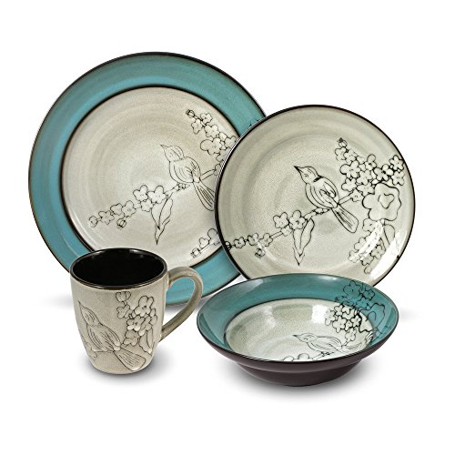 Gourmet Basics Song Bird Dinnerware Set (48 Piece)