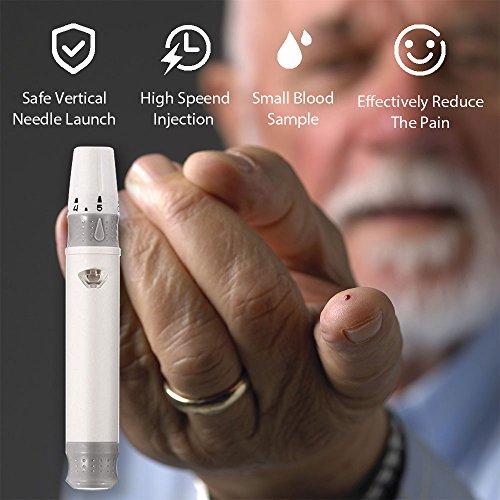 Glucosa en sangre kit de Safe Accu control de la diabetes kit de prueba de azúcar en sangre kit Codefree...