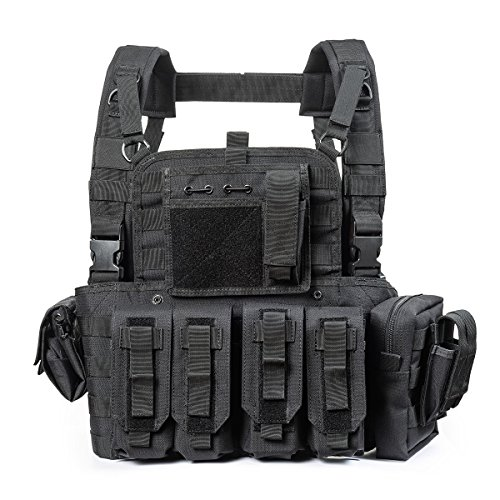 YAKEDA Tactical CS Game Chest Vest - KF-099 (Black) by YAKEDA