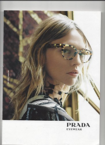 --Magazine Fashion PRINT AD-- For 2015 Prada Tortoise Eyewear --PRINT AD--