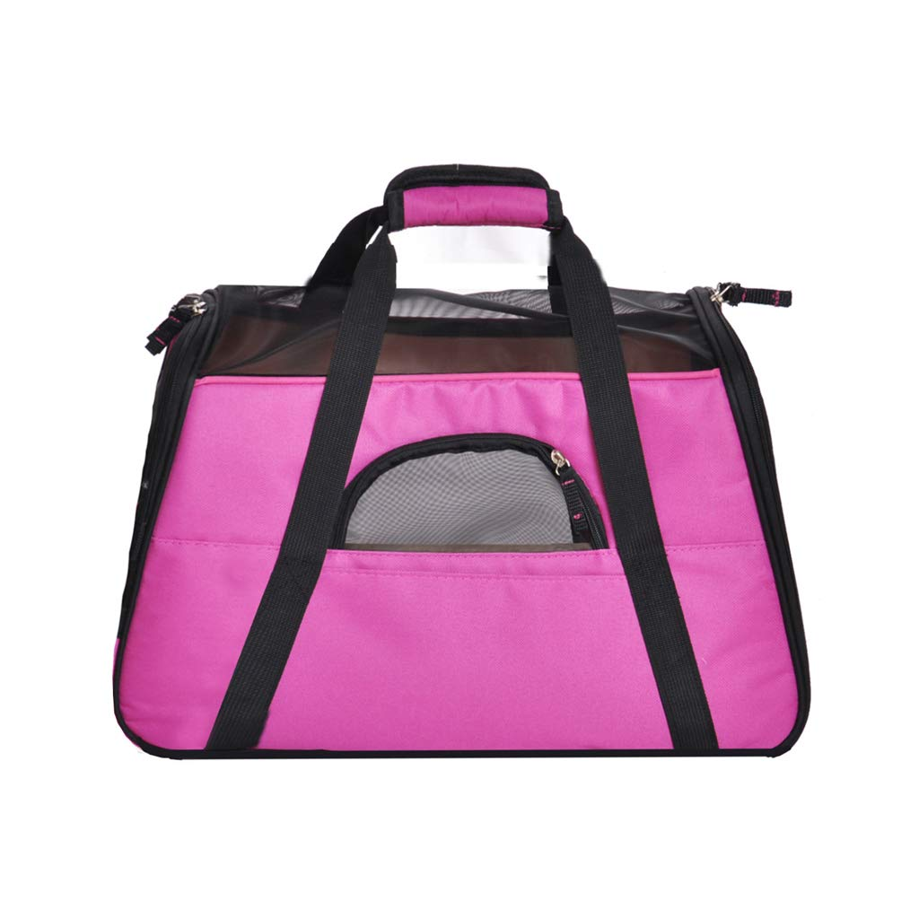 Pet Backpack for Small Dogs Cats Rabbits, Soft-Sided Mesh Pup Pack for Outdoor Travelling, Removable Fleece Mat, with Built-in Collar Buckle 41Cm X 20Cm X 27Cm