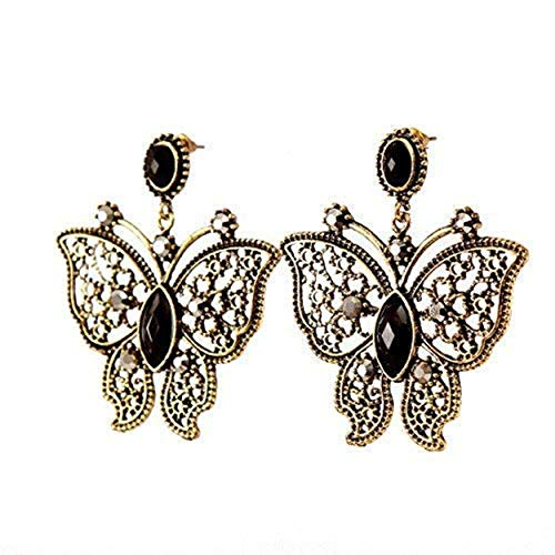 TOKENZ Sleek Butterfly Design Oxidized Silver Gold And Black Fashion Earrings For Women And Girls For Girlfriend (Butterfly Earrings Oxidized)