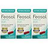 Feosol Carbonyl Iron Supplement , 60 CT (Pack of 3)