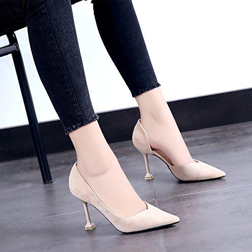 Alto Beige Zapatos Verano Negra Zapatos Zapatos 9cm El GAOLIM Femeninos Girl De Tacón Luz De Solo Cq5x6xw8