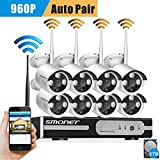 Cheap Smonet 8CH 960P HD Wireless Network/IP Security Camera System(WIFI NVR Kits),8PCS 1.3 Megapixel Wireless Indoor/Outdoor Bullet IP Cameras,P2P,Superior Night Vision,2TB HDD Pre-installed