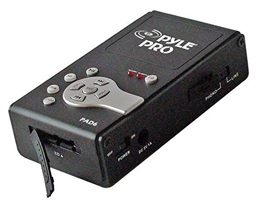 Pyle-Pro PAD6 Portable Analog to Digital USB Recording Interface SD USB Memory Output and USB to PC/MAC Sound Around