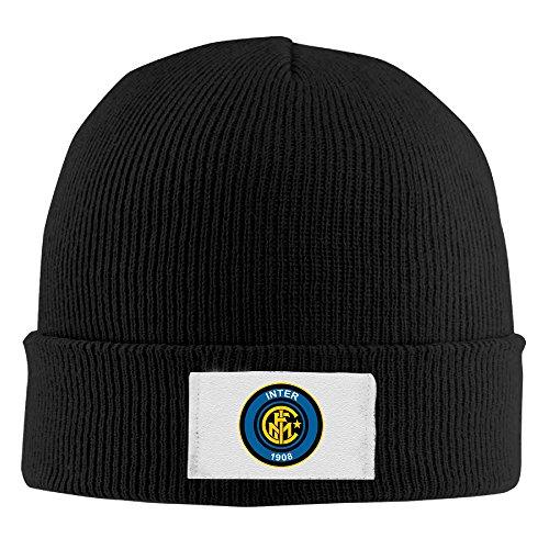 - FC Internazionale Milano Unisex Funny Black Flexible Wool Winter Toboggan Cap One Size