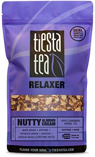 - Tiesta Tea Nutty Almond Cream, Apple Cinnamon Herbal Tea, 200 Servings, 1 Pound Bag, Caffeine Free, Loose Leaf Herbal Tea Relaxer Blend, Non-GMO