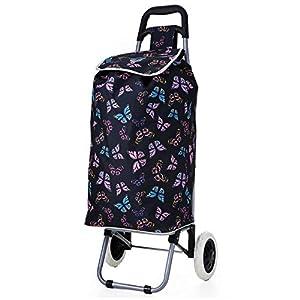Hoppa Cabas Shopping ultra léger Capacité de 2 roues pour chariot à bagages