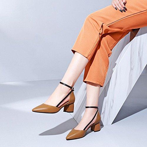 Zhudj De Ontplooien Shoes_frauen Schoen In De Ondiepe Monding Van De Holle Round Bezetting Vierendertig