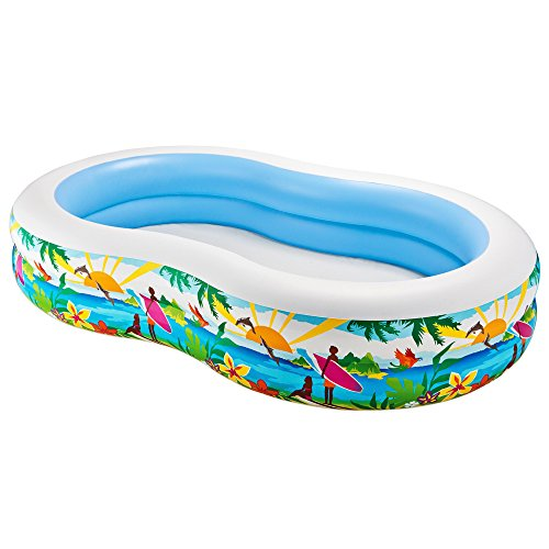 "Intex Swim Center Paradise Inflatable Pool, 103"" X 63"" X 18"", for Ages 3+"