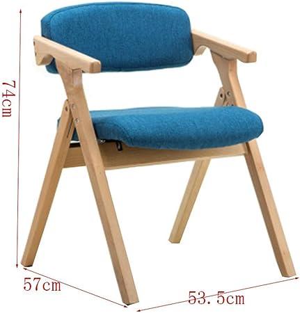 Chaise Pliante en Bois, Confortable (Couleur : Bleu): Amazon