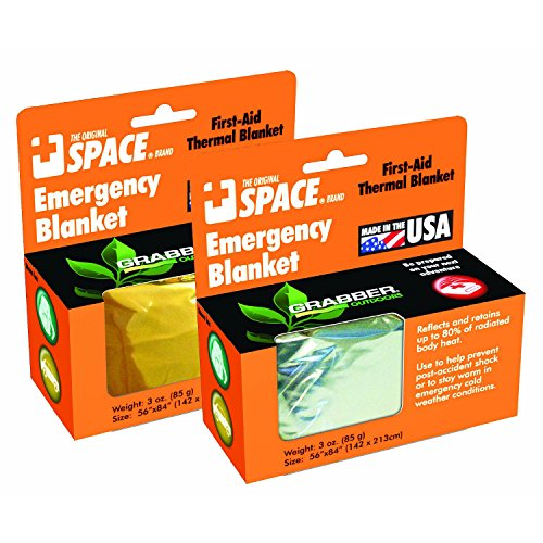 Emergency Unique SPACE Blanket Silver 24 ct. by Grabber
