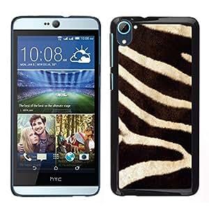 EJOY---Cubierta de la caja de protección para la piel dura ** HTC Desire D826 ** --la naturaleza de cebra patrón de pieles de animales de África