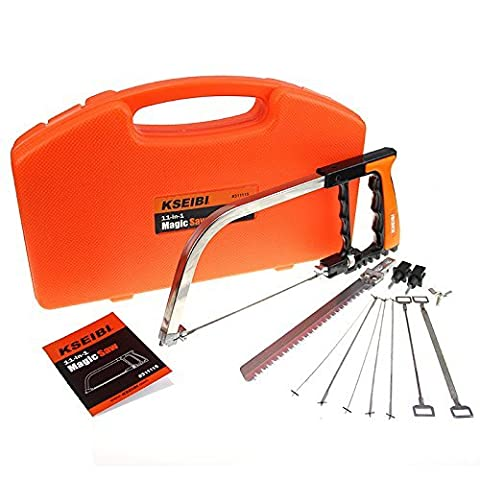 KSEIBI 311115 12 in 1 Magic Saw Cutter for Steel Wood PVC Plastic Pipe Glasses Tile All in One (Saws All Blade Handle)